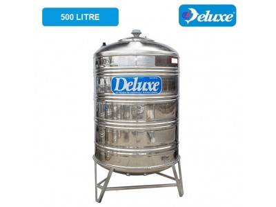 500 Liter Deluxe Stainless Steel Round Bottom With Stand Water Tank 圆底有脚
