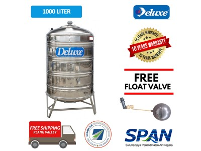 1000 Liter Deluxe Stainless Steel Round Bottom With Stand Water Tank