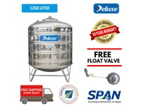 1250 Liter Deluxe Stainless Steel Round Bottom With Stand Water Tank