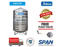 5000 Liter Deluxe Stainless Steel Round Bottom With Stand Water Tank