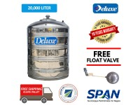 2000 Liter CL50F Deluxe Stainless Steel Round Bottom Without Stand Water Tank