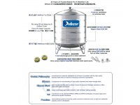 10000 Liter CL220KL Deluxe Stainless Steel Round Bottom With Stand Water Tank