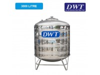 3000 Liter DWT Stainless Steel Water Tank With Stand / Round Bottom 圆底有脚