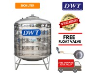 3000 Liter DWT Stainless Steel Water Tank With Stand / Round Bottom