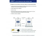 2000 Liter DWT Stainless Steel Flat Bottom Without Stand Water Tank