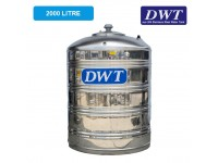 2000 Liter DWT Stainless Steel Flat Bottom Without Stand Water Tank 平底无脚
