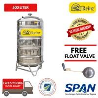 500 Liter Treinz Stainless Steel Water Tank With Stand / Round Bottom