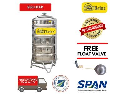 850 Liter Treinz Stainless Steel Water Tank With Stand / Round Bottom