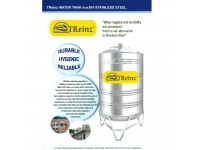 1250 Liter Treinz Stainless Steel Water Tank With Stand / Round Bottom