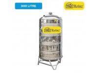 3000 Liter Treinz Stainless Steel Water Tank With Stand / Round Bottom 圆底有脚