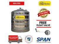 850 Liter Treinz Stainless Steel Flat Bottom Without Stand Water Tank