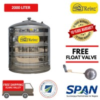 2000 Liter Treinz Stainless Steel Flat Bottom Without Stand Water Tank