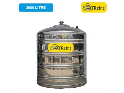 3000 Liter Treinz Stainless Steel Flat Bottom Without Stand Water Tank 平底无脚