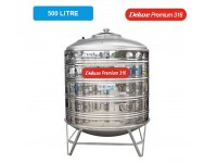 500 Liter Deluxe Premium 316 Stainless Steel Water Tank With Stand 圆底有脚
