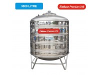3000 Liter Deluxe Premium 316 Stainless Steel Water Tank With Stand 圆底有脚
