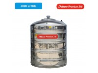 3000 Liter Deluxe Premium 316 Stainless Steel Water Tank Without Stand 平底无脚