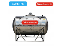 500 Liter Deluxe Premium 316 Stainless Steel Water Tank Horizontal With Stand 卧室有脚