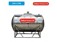 3000 Liter Deluxe Premium 316 Stainless Steel Water Tank Horizontal With Stand 卧室有脚