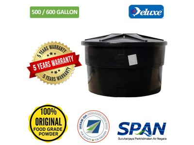 500/600 Gallon Deluxe Polyethylene Round type Water Tank