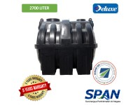 2700 Liter 9 PE SPAN Approved Deluxe PE Septic Water Tank Horizontal Type