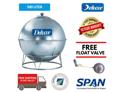 500 Liter Deluxe Stainless Steel Earth Shape Water Tank with Stand