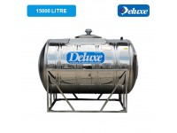 15000 Liter Deluxe Stainless Steel Water Tank Horizontal with Stand 有脚卧室