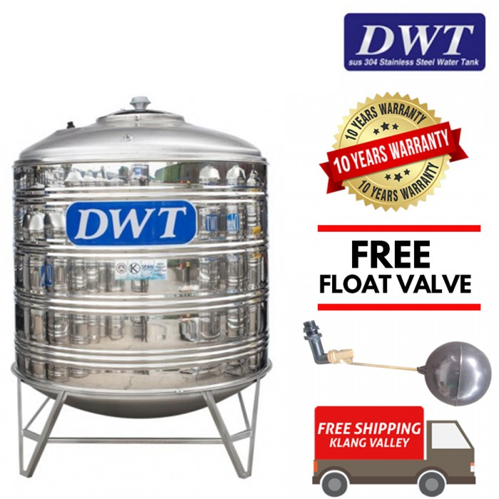 DWT Stainless Steel Water Tank With Stand / Round Bottom