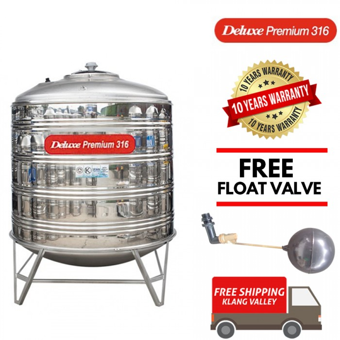 Deluxe Premium 316 Stainless Steel Water Tank With Stand