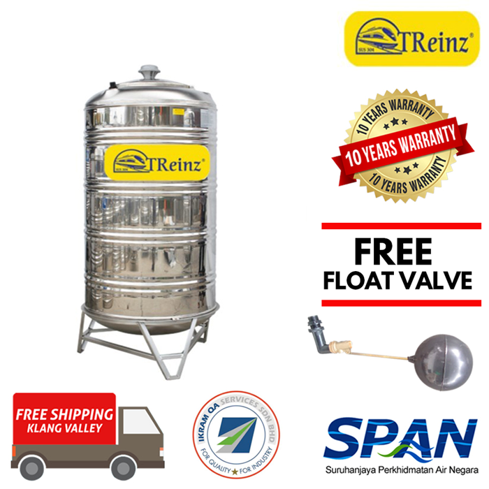Treinz Stainless Steel Water Tank With Stand / Round Bottom